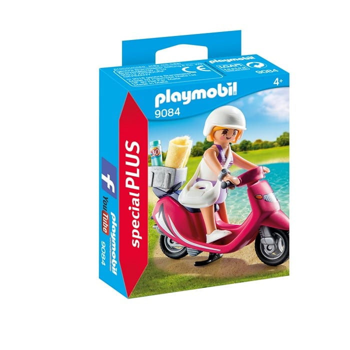 פליימוביל נערת חוף עם קטנוע 9084