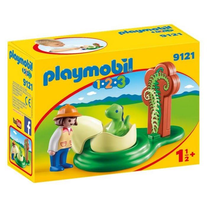 פליימוביל ילדה וביצת דינוזאור לגיל הרך 1,2,3 9121