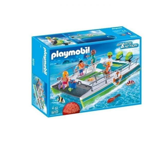 פליימוביל סירה עם תחתית שקופה ומנוע תת ימי 9233