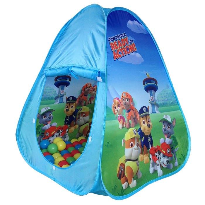 אוהל מפרץ ההרפתקאות עם כדורים