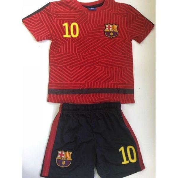 חליפת ברצלונה מסי אדום מידה 2