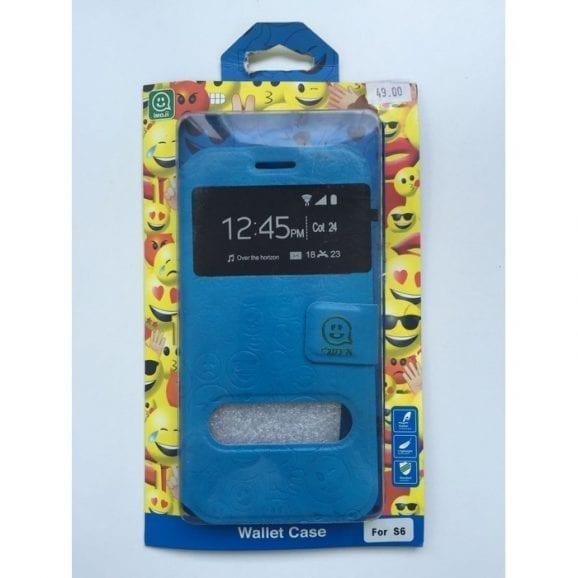 עודפים - כיסוי לאייפון שש אימוג'י כחול