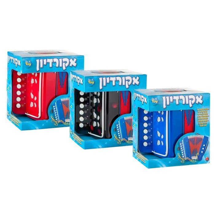 מבריק אקורדיון לילדים גדול - כחול - . - חנות צעצועים לילדים - אמיגו QH-39