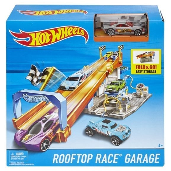 הוט וילס-מסלול תחרות על גג מוסך