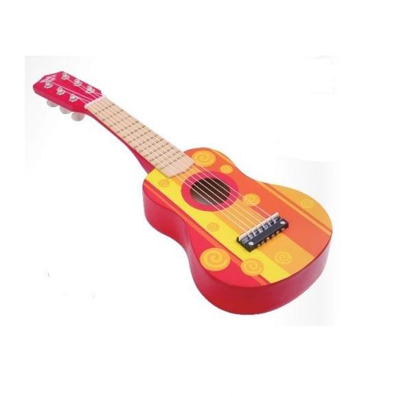 גיטרה עץ צבעונית