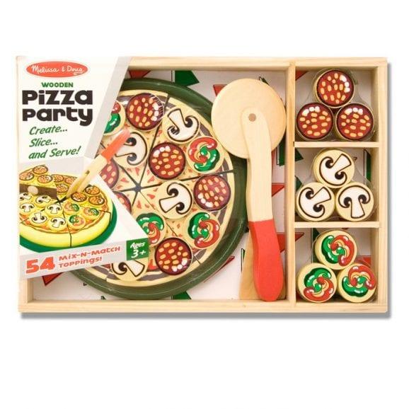 ערכה מעץ להכנת פיצה לילדים