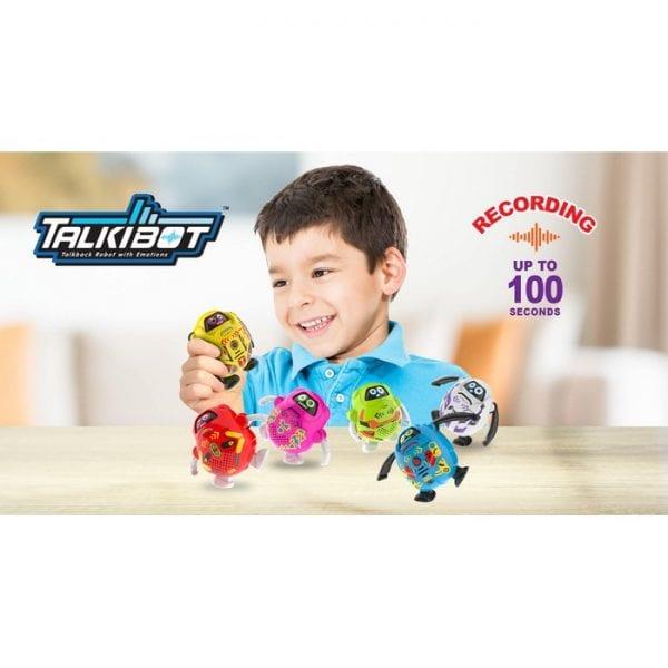 רובוט טוקיבוט מקליט בבליסטר - ורוד
