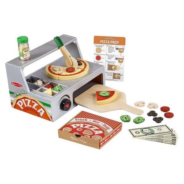 דלפק ותנור להכנת פיצה