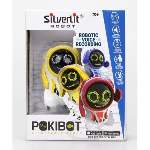 רובוט פוקיבוט אינטראקטיבי - לבן צהוב