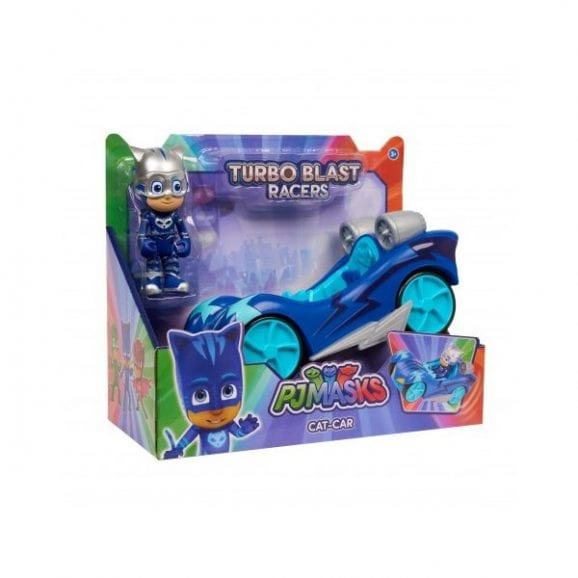 כוח פיג'יי מכונית מירוץ ודמות כוח פיג'יי - ילד חתול