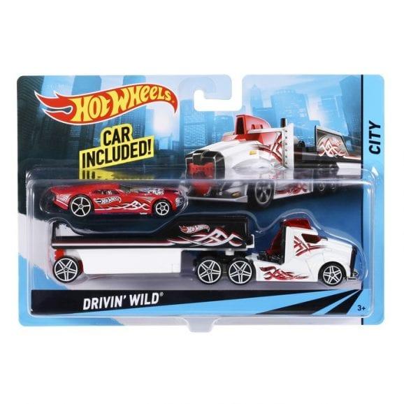 הוט וילס - משאית לבנה עם רכב