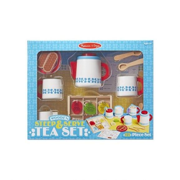 סט כלי תה מעץ לילדים