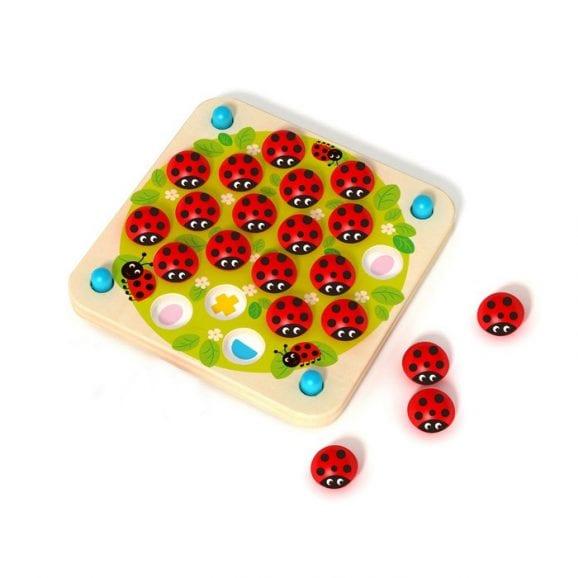 משחק זיכרון חיפושיות מעץ לילדים
