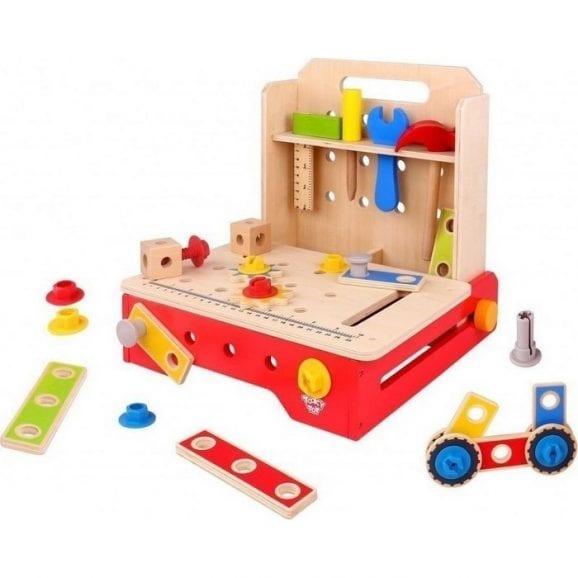 שולחן כלי עבודה מעץ מתקפל לילדים