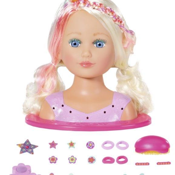 בייבי בורן ראש בובה צבעוני