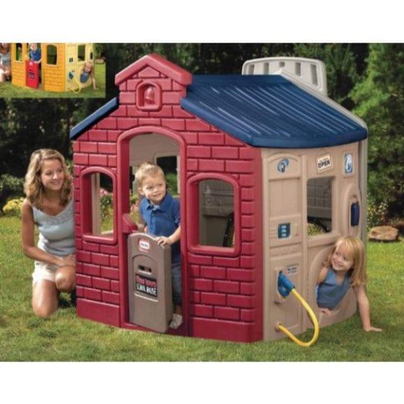 מתקן לחצר - בית לגינה עיר הילדים צבעי אדמה