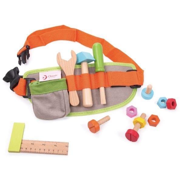 חגורת כלי עבודה מעץ לילדים