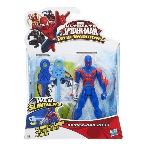 """ספיידרמן - דמות יורה חיצי רשת 14 ס""""מ (כחול אדום)"""