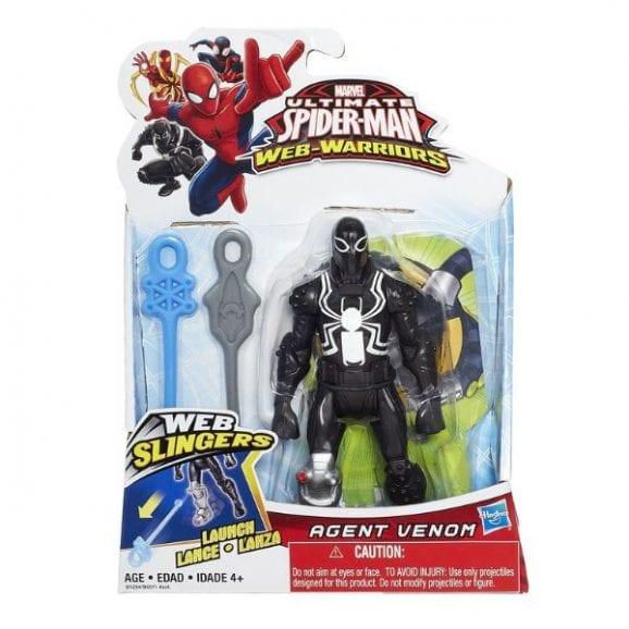 """ספיידרמן - דמות יורה חיצי רשת 14 ס""""מ (שחור)"""