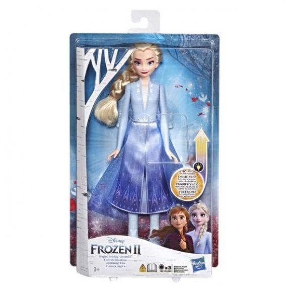 פרוזן 2 - אלזה הבובה עם שמלת הקסם המוארת