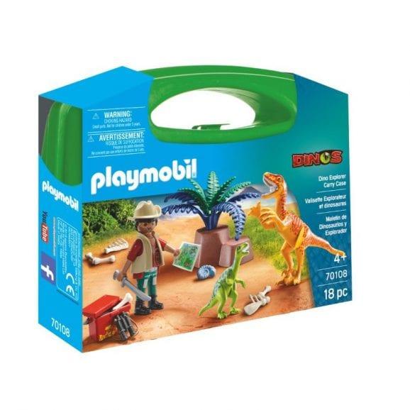 פליימוביל מזוודת חוקר הדינוזאורים 70108