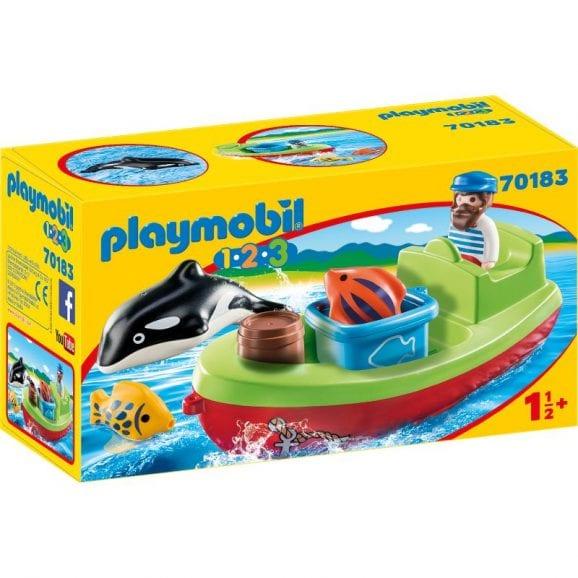 פליימוביל 1,2,3 דייג עם סירה לגיל הרך 70183