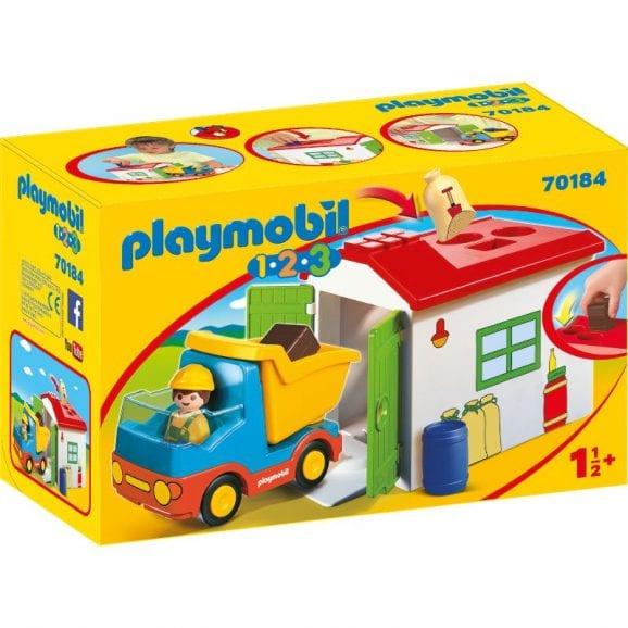פליימוביל 1,2,3 משאית זבל לגיל הרך 70184
