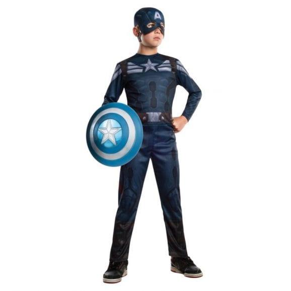 תחפושת קפטן אמריקה במשימה כולל מסכה מידה LARGE