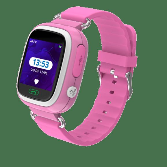שעון חכם לילד קולור 2.0 עם מסך מגע צבעוני  - ורוד
