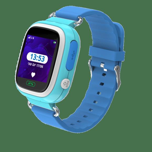 שעון חכם לילד קולור 2.0 עם מסך מגע צבעוני - כחול