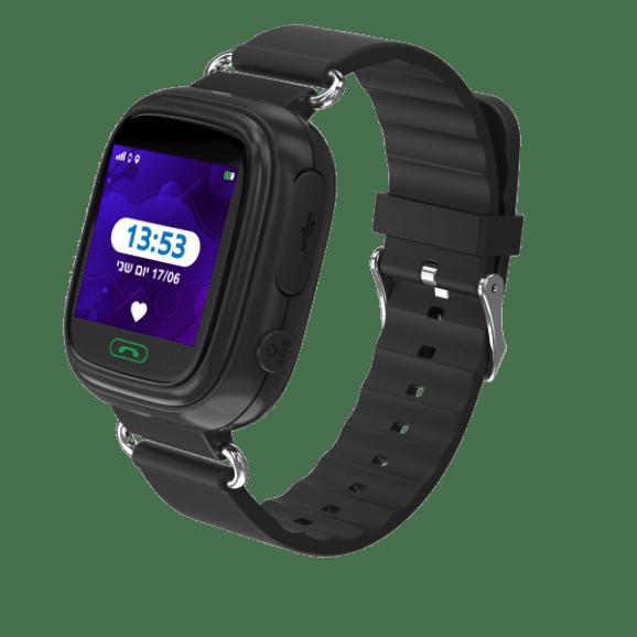 שעון חכם לילד קולור 2.0  עם מסך מגע צבעוני - שחור