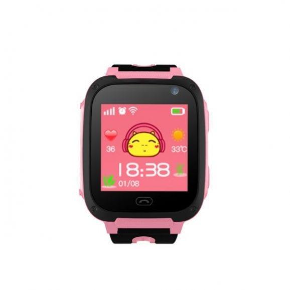 שעון טלפון חכם לילד - Junior lbs ורוד+מצלמה