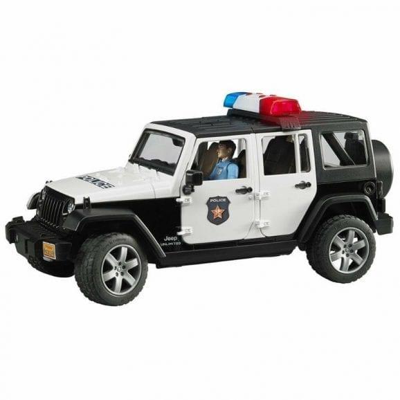 עודפים - ג'יפ רנגלר רכב משטרה לילדים + שוטר ואביזרים