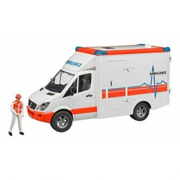 עודפים - אמבולנס לילדים רכב ספרינטר MB נהג+אביזרים