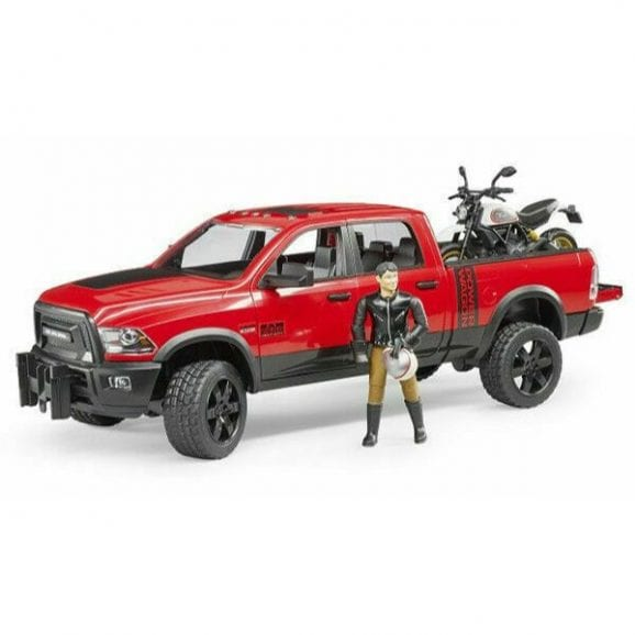 ג'יפ לילדים Ram 2500 Power Wagon + אופנוע Ducati ונהג