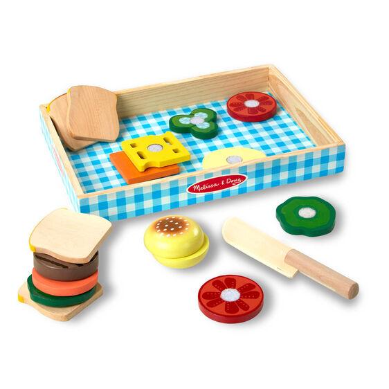 מליסה ודאג סט להכנת סנדוויצים מעץ