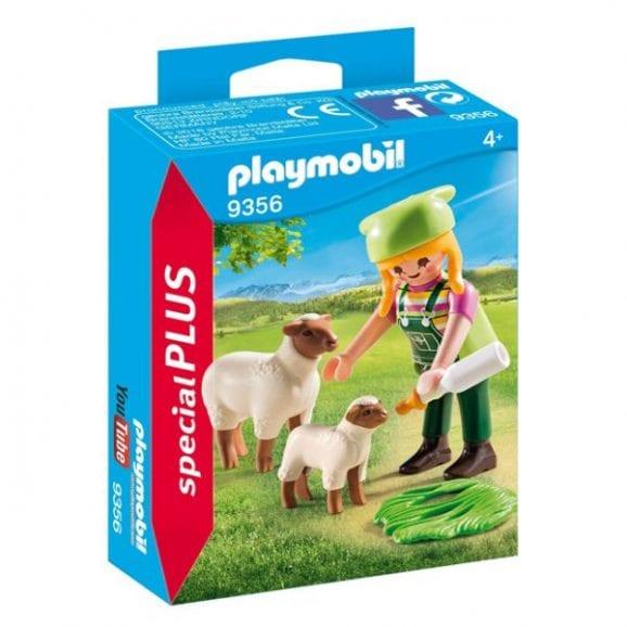 פליימוביל - דמות איכרית עם כבשים 9356
