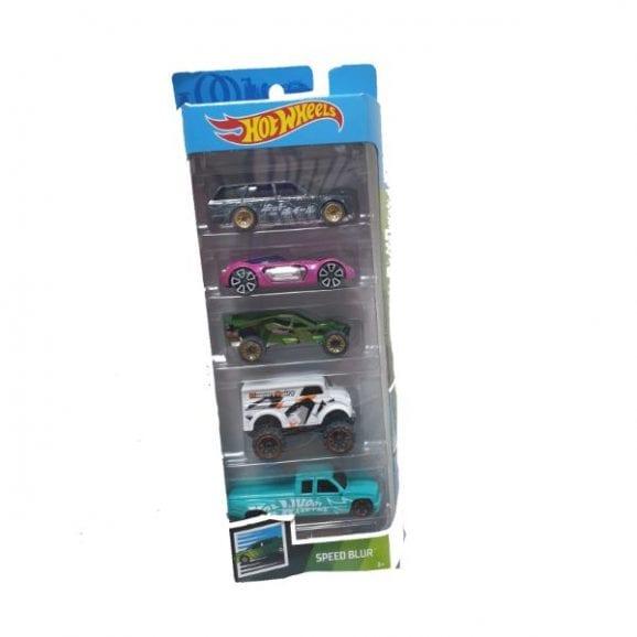 הוט ווילס 5 מכוניות באריזה - 1806 SPEED BLUR
