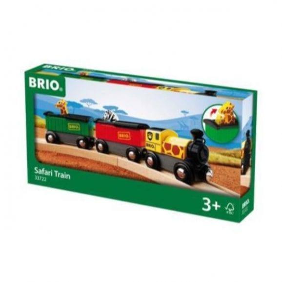 רכבת ספארי מעץ לילדים
