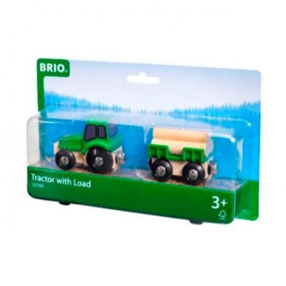 טרקטור עם משא מעץ לילדים