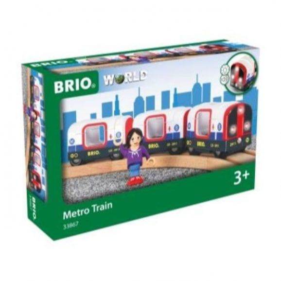 רכבת מטרו מעץ לילדים