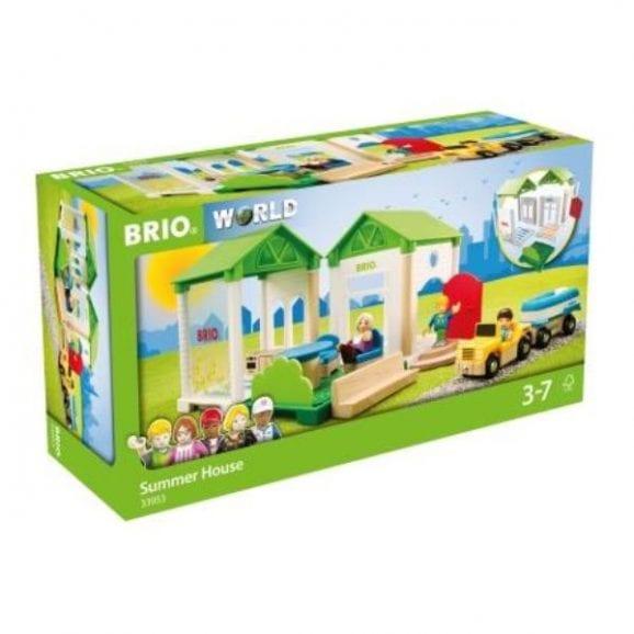 בית קיץ מעץ לילדים - כולל ג'יפ דמויות וסירה