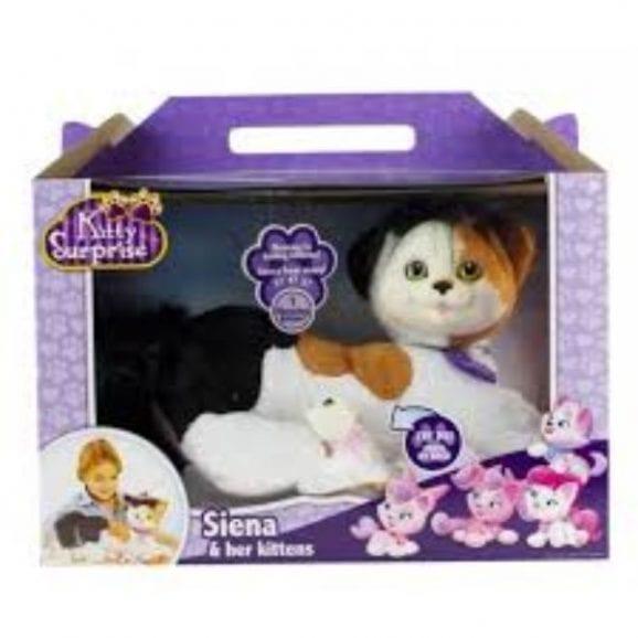 עודפים - אמא חתלתולה עם גורי הפתעה - לבנה סגולה מוכתמת