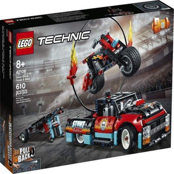 לגו טכני - פעלולי משאית ואופנוע - 42106