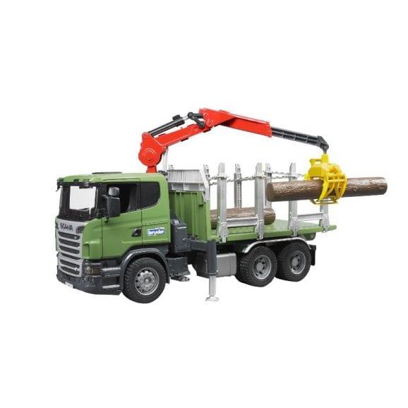 עודפים - משאית סקניה + עצים