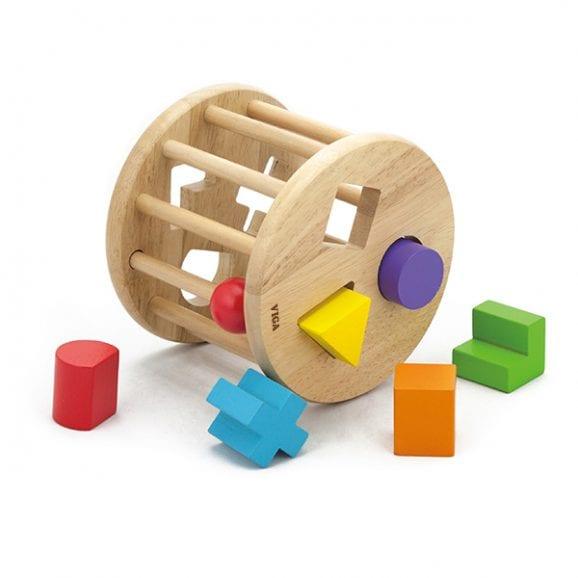 ויגה גלגל עץ התאם צורה לילדים