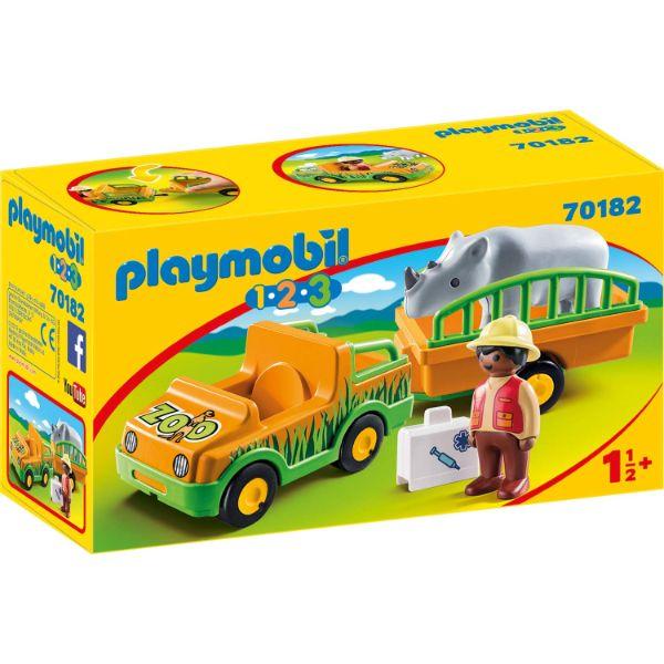פליימוביל - רכב גן חיות וקרנף לגיל הרך 1,2,3 70182