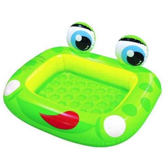 """בריכת צפרדע פעוטות עם תחתית מתנפחת בקופ' 128X110 ס""""מ"""