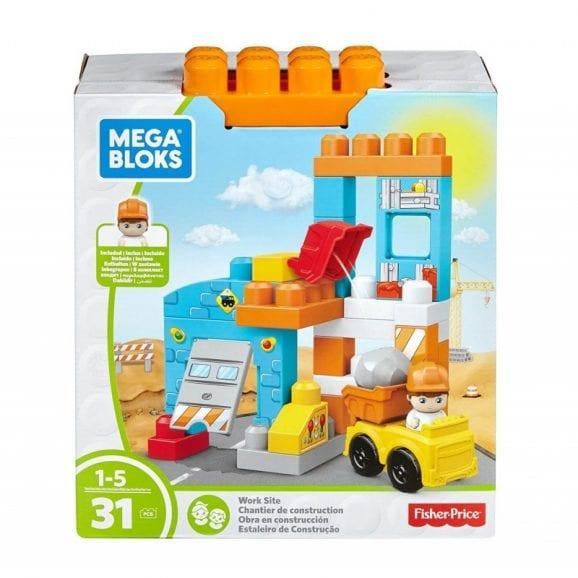 מגה בלוקס - מארז 31 לבני בנייה בנושא אתר בנייה DKX85